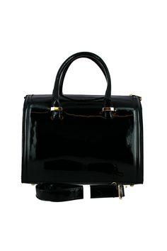 sac à main vernis noir - Zonedachat Purse, Bags