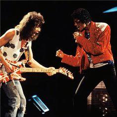 Eddie Van Halen and Michael Jackson
