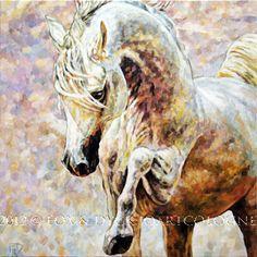 Horse Artists' Paintings | Horse art | Pferde gemalt: The Golden Arabian Horse