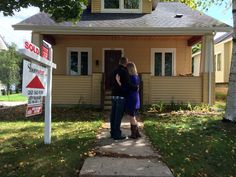 Ps we bought a house ... The photo we're using to announce our new home!