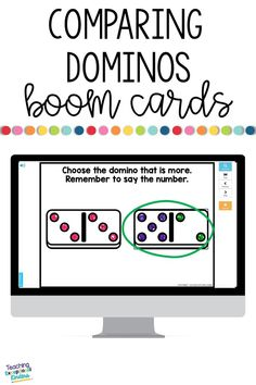 Your kindergarten and first grade students will love practicing subitizing math skills while finding the domino that shows more dots than the other with these self-correcting boom cards.  These digital task cards are a fun way to keep kids engaged during distance learning.  Keep remote learning entertaining with digital task cards that make math practice feel more like a game.  Check out Boom Learning today!