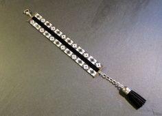 http://www.alittlemarket.com/boutique/thedreamfactory-88952.html Bracelet Mosaïque noir blanc et gris irisé en perles Miyuki.