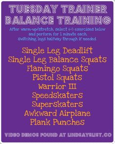 Lindsay's List TT: Balance Training —I severely need to add this to my routine \\