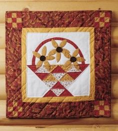 Flower Basket mini quilt   Country Woman magazine