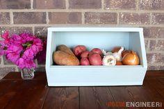 DIY Root Vegetable Storage Bin - Free Plans - #dan330 http://livedan330.com/2015/07/09/diy-root-vegetable-storage-bin/