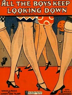 All the Boys Keep Looking Down, Words & Music Harry Von Tilzer, 1926 (Illustration by Doc Rankin)