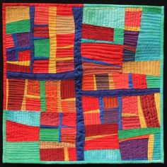 Anne Groufsky mini quilt at Distressed Threads (New Zealand)