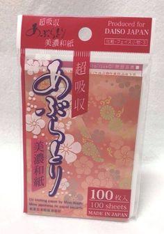 Daiso japan oil-blotting paper MINO-WASHI 100 sheet made in japan F/S #Daiso