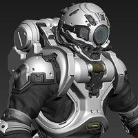Halo 5: Diving Suit Fan Art  This is Part 2 for this suit.  Model and Render by Josh Dina  Concept by Kory Hubbell: https://www.artstation.com/artwork/AobXo  PART 1 can be viewed here: https://www.artstation.com/artwork/XPewY www.JoshDina.com  www.facebook.com/Joshflighter