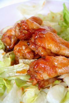A legfinomabb mézes-csípős csirkeszárny Chicken Wings, Bacon, Pork, Food And Drink, Meat, Ethnic Recipes, Kale Stir Fry, Pork Chops, Pork Belly