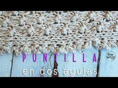 Cómo hacer una PUNTILLA en dos agujas o palillos - YouTube Knit Crochet, Crochet Hats, Knitting Stitches, Pattern, Handmade, Pumpkin, Tips, Youtube, Beautiful