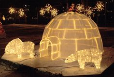 A beautiful igloo, part of Christmas displays in the town park around the Kapuskasing River in Kapuskasing, Ontario Canada Ice Sculptures, Ontario, Christmas Time, Christmas Displays, Canada, Display Ideas, Snow, River, Club