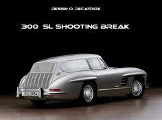 Mercedes 300 SL Gullwing shooting break break de chasse design by olivier decatoire