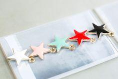 star pendant*   size(mm):09*09 star pendant, star shape pendant, star charm, pendant, charm, pendant, craft supplies, jewelry craft supplies, handcraft, DIY, jewelry supplies, crafts,