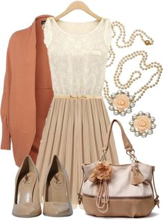 """Peaches & Cream"" by qtpiekelso on Polyvore"