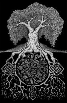 Celtic tree of life. Being Irish Celtic stuff takes a different toll on your heart Celtic Tatoo, Celtic Art, Celtic Tree Tattoos, Irish Tattoos, Wiccan Tattoos, Indian Tattoos, Celtic Dragon, Art Conceptual, Celtic Animals