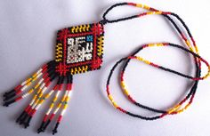 Huichol Beaded Deer Necklace by Aramara on Etsy
