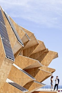 The Endesa Pavillion, Solar House 2.0, designed by IaaC | Solar Panels for Buildings | #solar #power #sustainability