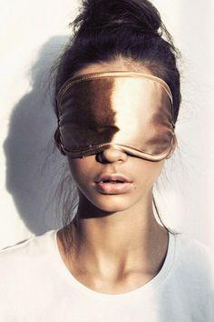 Silk/satin sleep mask.   Get your Beauty Sleep!