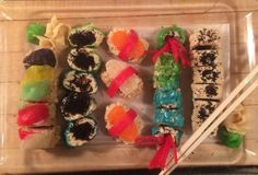 Candy Sushi | 7 Recipes to Make the Perfect Prank on April Fools' Day ......  And, for Halloween!