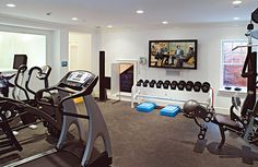 Home gyms | Practical And Cozy Home Gym Designs