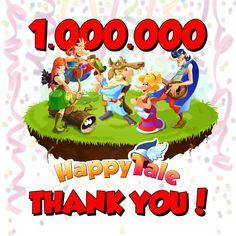 Gra Wesoła Osada (Happy Tale) ma już milion unikalnych użytkowników. Gratki :) #happytale