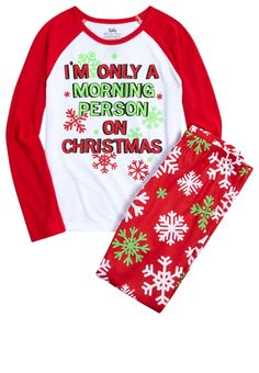 Christmas Pajama Set (original price, $22.00) available at #Justice