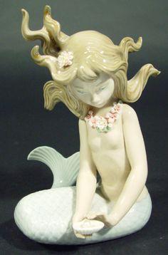 porcelain mermaid figurines - Google Search