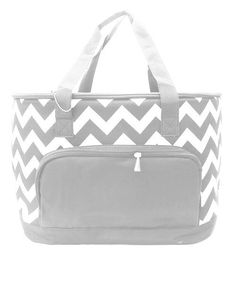 Gray or Black Chevron Bag Cooler  by MeadowCrestMonograms on Etsy, $39.95