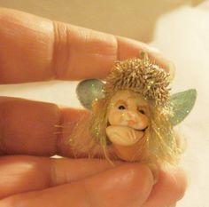 Ooak Miniature little magic fairy sculpt by ArtistaToscana on Etsy, $28.00