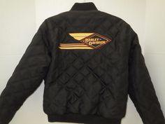 Harley Davidson Reversible Quilted Nylon Coat Jacket Woman's Sz M Black  #HarleyDavidson #Reversible