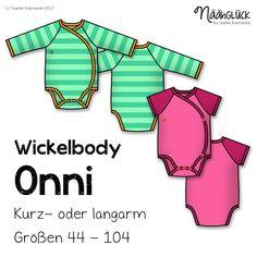 """Der Wickelbody Onni - Finnisch für """"Glück"""" - kleidet alle kleinen Wesen warm. Durch das Überlappen der Vorderteile m..."""