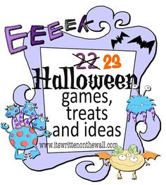 Absolutely adorable site with tons of ideas for games and favors for a children's Halloween party - we used to do a party every year when our kids were little - I would have loved to have this site for ideas