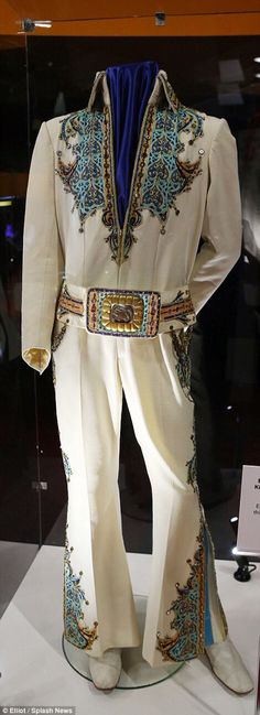 Elvis Presley Embroidered King Of Spades Jumpsuit At The 02 Exhibition London