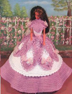 Crochet mode poupée Barbie Pattern  441 par JudysDollPatterns