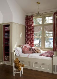 Wonderful practical use of bump outs a window seat by day, guest bed built in bed under window, 46 best window bed images window bed, built ins and. Built In Bed, Built Ins, Window Seat Storage, Window Seats, Bed Nook, Bedroom Nook, Bedroom Ideas, Window Bed, Traditional House