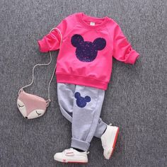 Mickey Mouse Clothing Set [6M-5T] 19.99 CAD Toddler Boy Outfits, Toddler Boys, Kids Outfits, Baby Boys, Jogging Outfit, Mickey Mouse Outfit, Kids Pants, Boys T Shirts, Baby Girl Newborn