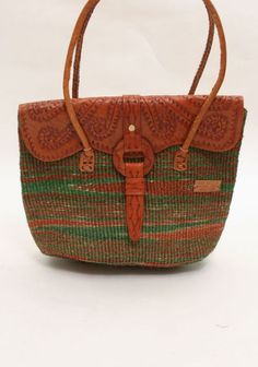 African Full Flap Handbag