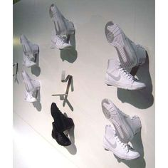 great way to display footwear/ photoshoot style