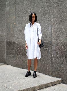Maria Van Nguyen - Shirtdress MM6, Shoes Acne Studios