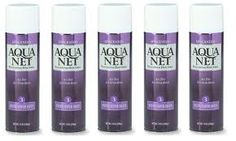 aqua net was stocked in every girl's cabinet