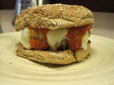 Biggest Loser pizza burgers! Absolutely amazing especially if you are getting bored with normal burgers.