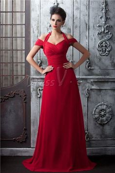 Wholesale Long Bridesmaid Dresses - Buy Custom Made-Red A-line Simple Elegant Cap Sleeve Long Bridesmaid Dress Floor Length Zipper Back Sleeveless Ruffles Maid Of Honor Gown, $82.47 | DHgate