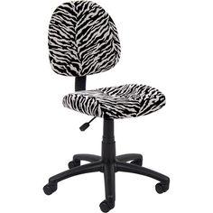 Boss Zebra Print Microfiber Deluxe Posture Chair