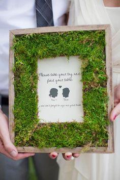 quadro feito com grama