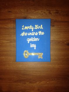 Kappa Kappa Gamma Sorority Small Canvas Lovely by SororityCrafts92, $12.00