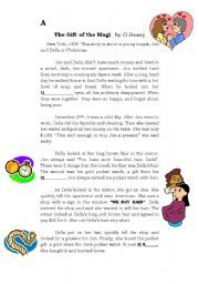 English Worksheets: Gift of the Magi (Xmas lesson plan)