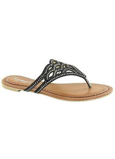 Kidderminster Black Diamante Sandals