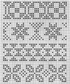 pattern for knitting Tapestry Crochet Patterns, Fair Isle Knitting Patterns, Fair Isle Pattern, Knitting Charts, Knitting Stitches, Knitting Designs, Knit Patterns, Crochet Chart, Filet Crochet