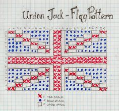 knitting pattern for union jack flag - Google Search